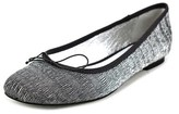 Adrianna Papell Zoe Women Square Toe Synthetic Silver Flats.