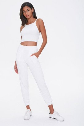 Forever 21 Ribbed Cropped Cami Ankle Pants Set