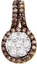 DazzlingRock Collection 0.56 Carat (ctw) 10k Yellow Gold Round & White Diamond Ladies Cluster Pendant