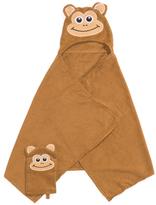 Kids Monkey Towel And Mitt Set