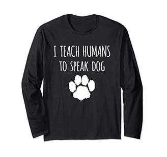 Funny Canine Training - Dog Trainer Gift Long Sleeve T-Shirt