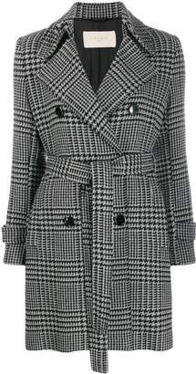 1901 Circolo houndstooth double-breasted coat