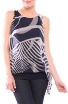 Olian Women's Ava Sleeveless Silk Maternity Top