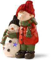 National Tree Co 15i Lighted Boy & Snowman Dcor