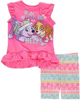 """Paw Patrol Little Girls' Toddler """"Here to Help!"""" 2-Piece Outfit"""