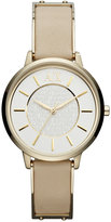 |A|X Armani Exchange Watch, Women's Gold-Tone Stainless Steel and Nude Leather Strap 38mm AX5301