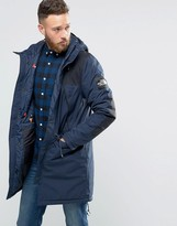 The North Face Insulated Mountain Parka In Navy
