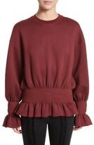 Stella McCartney Women's Ruched Ruffle Waist Sweatshirt