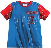 Moschino Shadow Printed Cotton Jersey T-Shirt