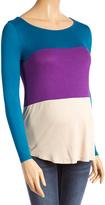 Teal & Purple Color Block Maternity Top