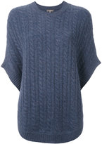 N.Peal cable knit sweater cape - women - Cashmere - One Size