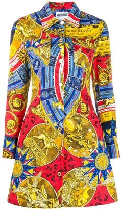 Moschino fantasy print shirt dress