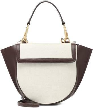 Wandler Hortensia Mini canvas shoulder bag