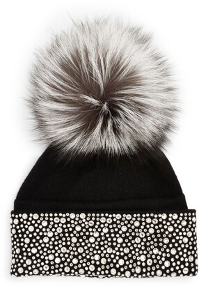 William Sharp Embellished Pom-Pom Hat