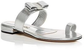 Salvatore Ferragamo Women's Louisa Toe Ring Slide Sandals