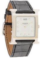 Hermes Heure H Watch w/ Mother of Pearl Dial