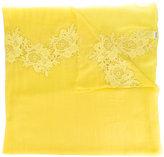 P.A.R.O.S.H. lace trim scarf - women - Cotton/Polyamide/Wool - One Size