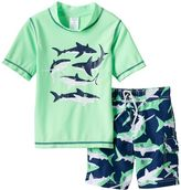 Carter's Boys 4-7 Shark Rashguard & Swim Trunks Set