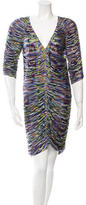 Matthew Williamson Ruched Printed Dress