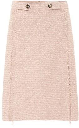 Etro High-rise tweed skirt