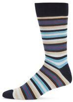 Saks Fifth Avenue Multistriped Combed Cotton-Blend Socks