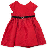 Rare Editions Baby Girls' Red Brocade Party Dress