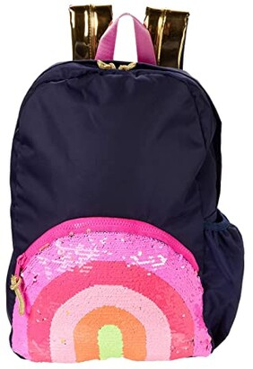 crewcuts by J.Crew Reversible Sequin Rainbow Backpack (Rainbow) Backpack Bags