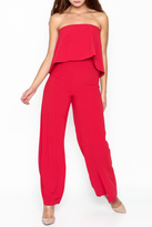 Do & Be Do-Be Ruffle Strapless Jumpsuit
