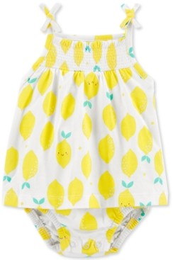 Carter's Baby Girls Lemon-Print Cotton Sunsuit