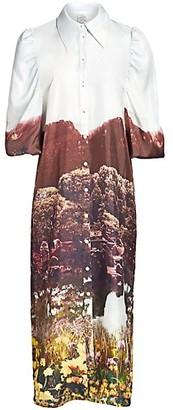 Baum und Pferdgarten It Takes A Family Amira Printed Silk Shirtdress