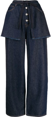 MM6 MAISON MARGIELA Wide-Leg Layered Jeans