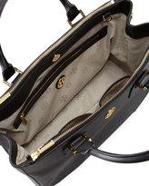 Tory Burch Robinson Double Zip-Pocket Tote Bag, Black