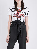 Anglomania Orb braided cotton-jersey t-shirt