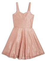 Sally Miller Girls' Flared Shimmer Dress - Big Kid