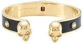 Alexander McQueen Embellished Leather Cuff Bracelet
