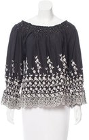 Ulla Johnson Embroidered Long Sleeve Top