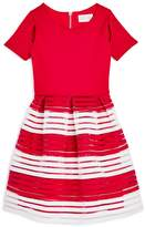 Us Angels Girls' Sheer Stripe Dress