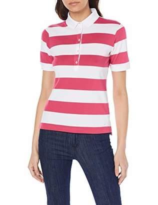 Brax Women's Cleo Finest Piqué Stretch Stripes Poloshirt Gestreift Polo Shirt, Deep Blue 23, (Size: 36)