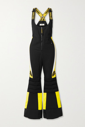 Fendi Rubber-trimmed Paneled Ski Salopettes - Black