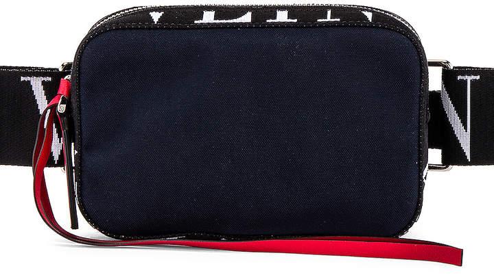 Valentino Crossbody Bag in Marine & White & Black | FWRD