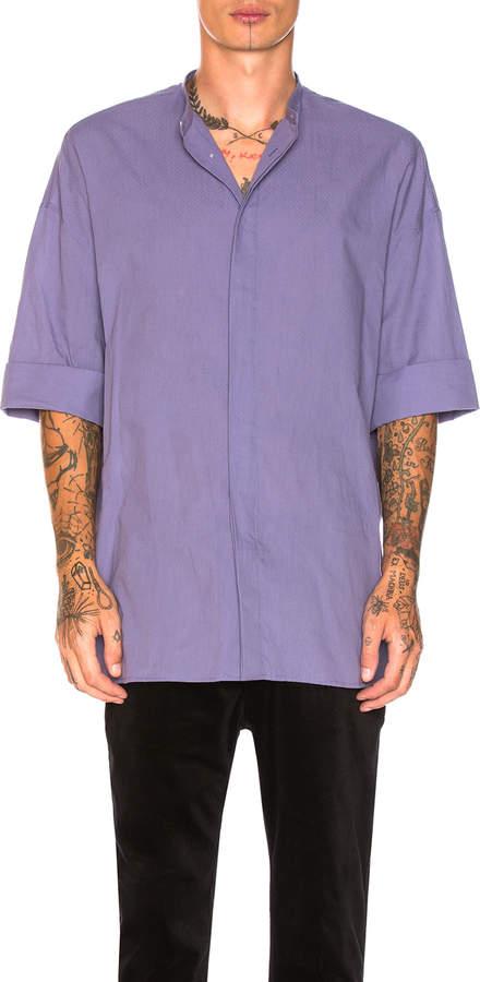 Haider Ackermann Short Sleeved Oversized Shirt