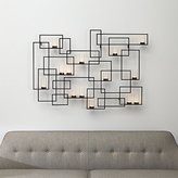 Crate & Barrel Circuit Metal Wall Candle Holder