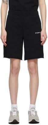 Helmut Lang Black Logo Sweat Shorts