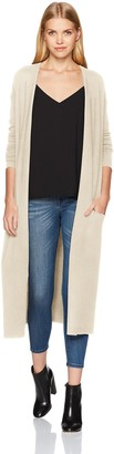 Halston Women's Long Sleeve Open Front Duster Cardigan