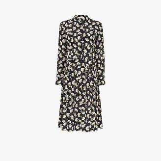 Chloé Floral Print Silk Midi Dress
