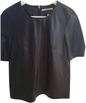 J Brand Black Fur Top for Women