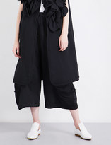 Comme des Garcons Wide-leg cropped woven trousers
