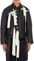 Craig Green Men's Laced Oversized Moto Jacket-BLACK