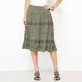 Anne Weyburn Crinkle Jersey Skirt