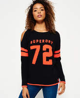 Superdry Varsity Cold Shoulder Knit Jumper